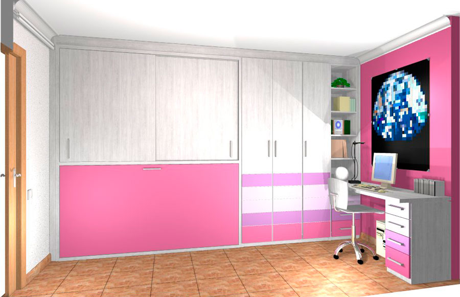 Mueble super barcelona proyecto habitaciones juveniles 10 for Habitaciones juveniles barcelona