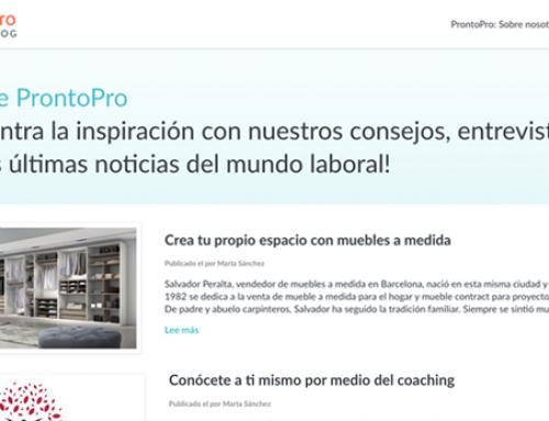 Entrevista en ProntoPro Blog